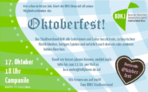 Einladung Oktoberfest