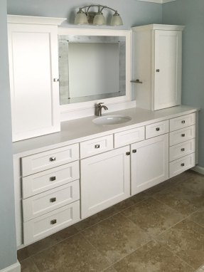 Classic White & Natural Stone Master Bath