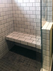 BDM Remodeling Atlanta Subway Tile Shower with Bench Neutral Tones Lime Green Walls Master 20June2019_0003_Layer 1