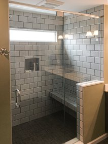 BDM Remodeling Atlanta Subway Tile Shower with Bench Neutral Tones Lime Green Walls Master 20June2019_0005_Layer 4