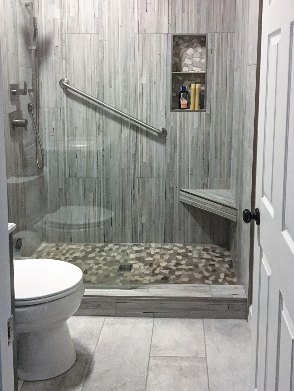 """Stylish """"Grey-Tone & Texture"""" Guest Bath"""