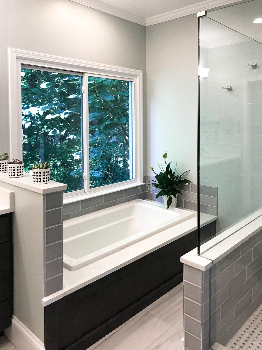 Contemporary Bathroom in Shades of Grey