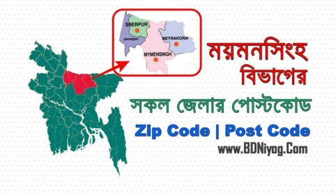 Mymensingh Division All Districts Post Code