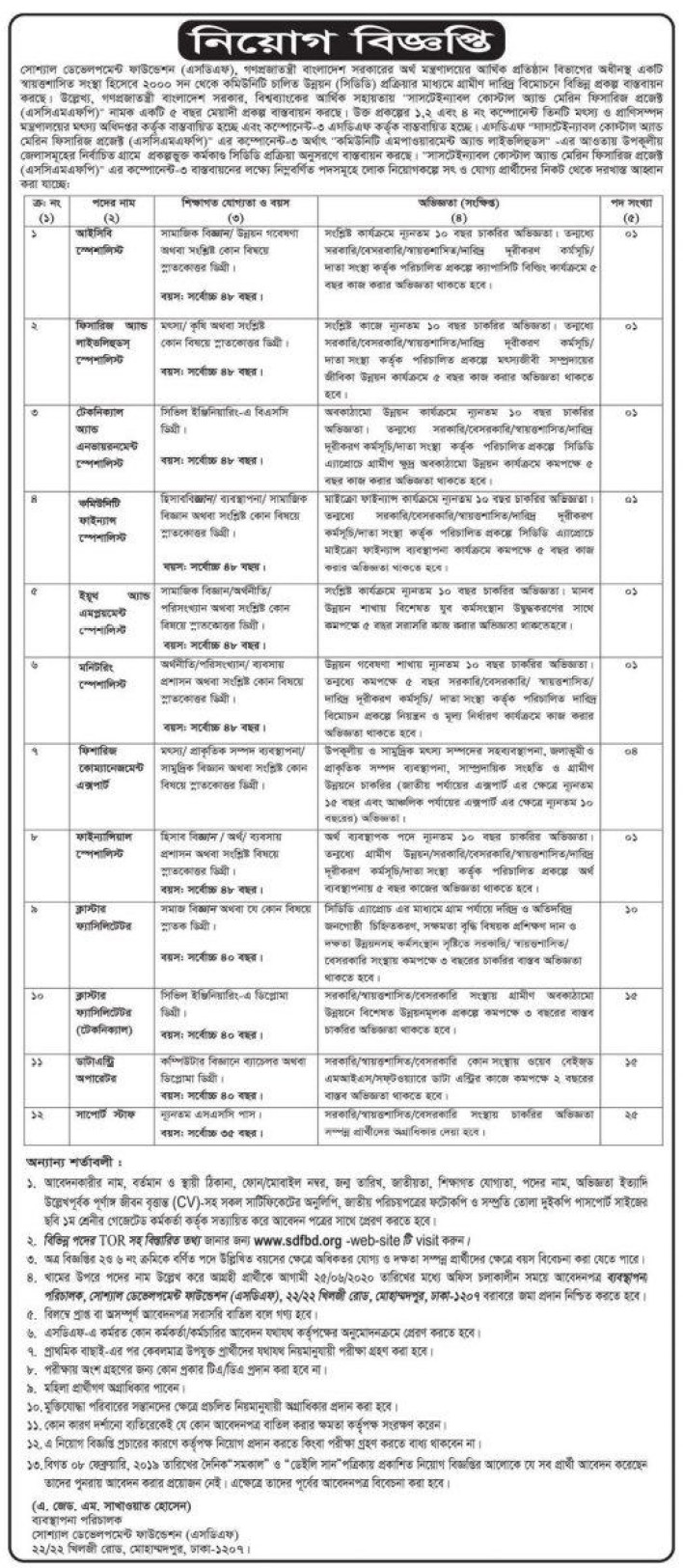 Ministry Of Finance Job Circular 2020