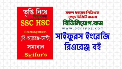 Photo of সাইফুরস ইংরেজি রিএরেঞ্জ বই | Saifur's SSC HSC English Rearrange Book PDF