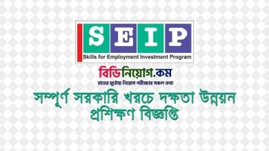 Photo of SEIP Govt. Free Skill Development Circular 2020   Apply Process