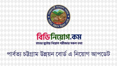 Photo of Chittagong Hill Tracts Development Board Job Circular 2020 – www.chtdb.gov.bd
