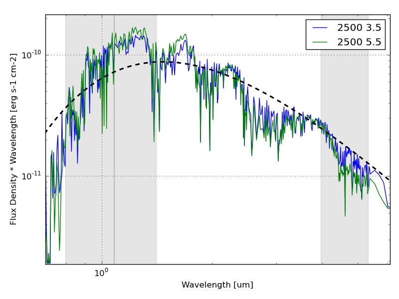 BT-Settl model spectra at 2500K