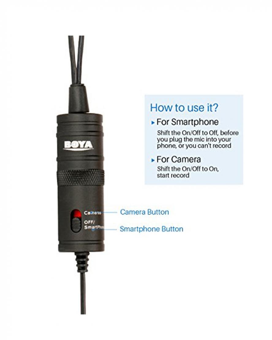 1534579609 Boya Dual lavalier Microphone M1DM