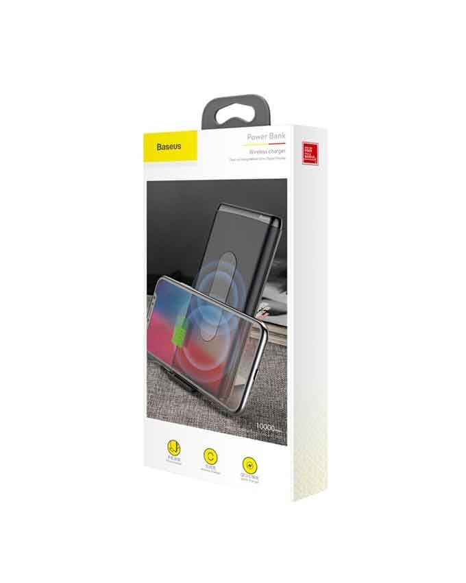 1566372832 Baseus BS-10 Quick Charge Wireless Powerbank Dual Coil Design And Digital Display