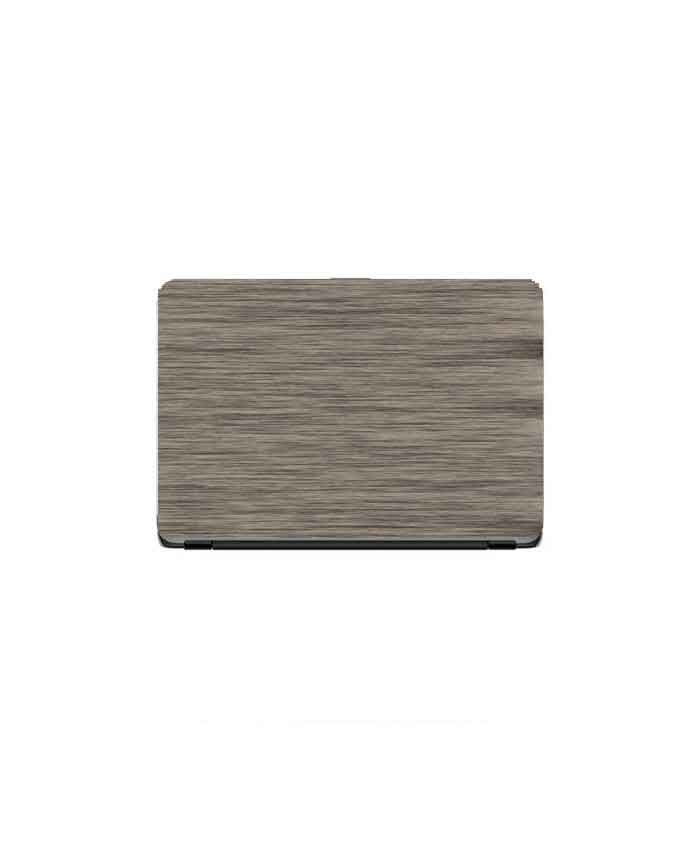 Laptop Back Cover Ash Grey Wooden Texture