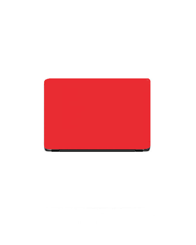 Laptop Back Stickers Red Matte Texture