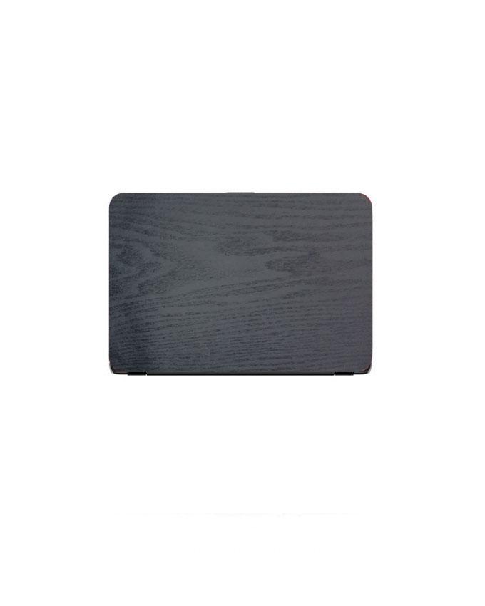 Laptop Back Cover Black Wooden Texture