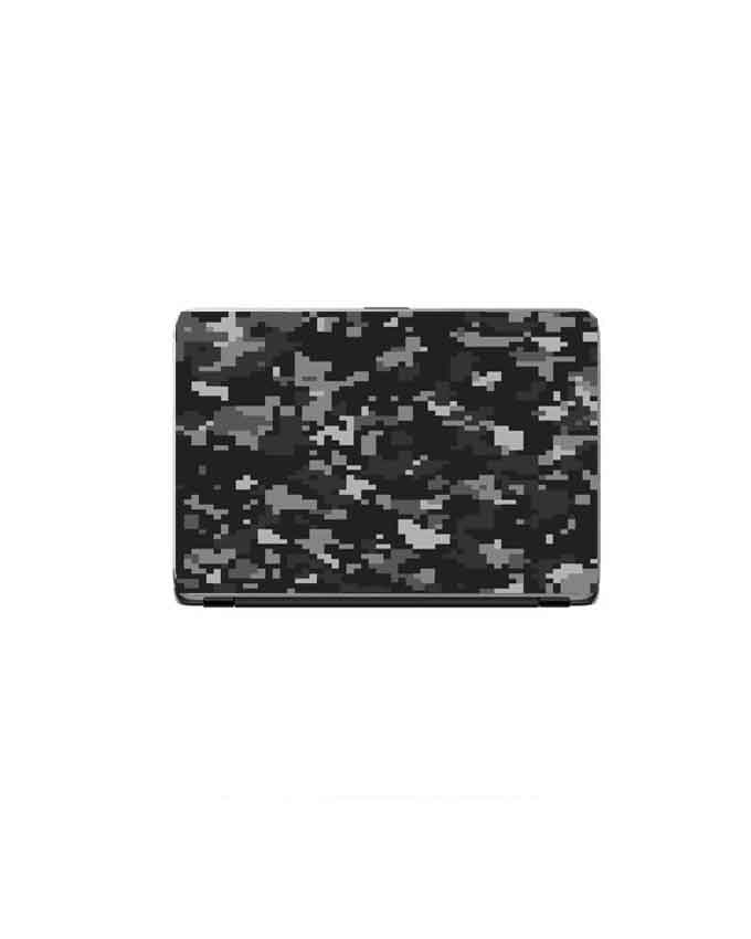 Laptop Back Cover Black Camouflage Texture