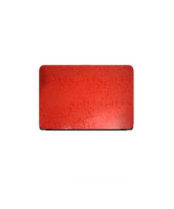 Laptop Back Cover Red Scripture Texture