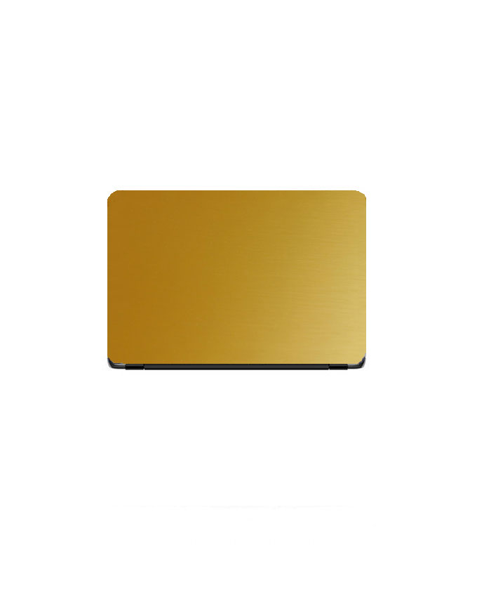 Laptop Back Stickers Golden Matte Texture