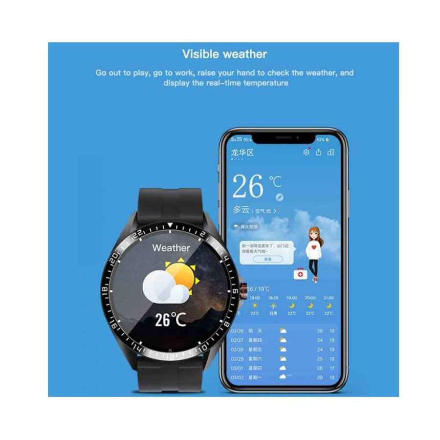 GW16 Smartwatch Heart Rate Monitor Blood Pressure Sleep Monitoring Incoming Call Weather Display Android IOS Bdonix 3 GW16 Smart watch