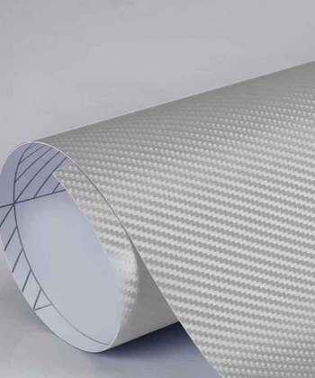 Laptop Back Protector Carbon Fiber Silver Texture