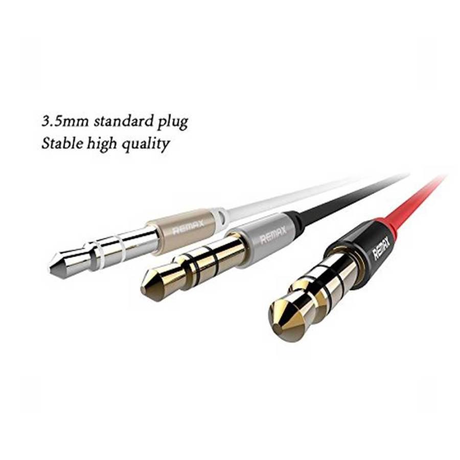 bDonix Remax 3.5mm Aux Cable L100 6 Remax RL-L100 3.5mm AUX Audio Cable male to male 1 Meter AUX Cable