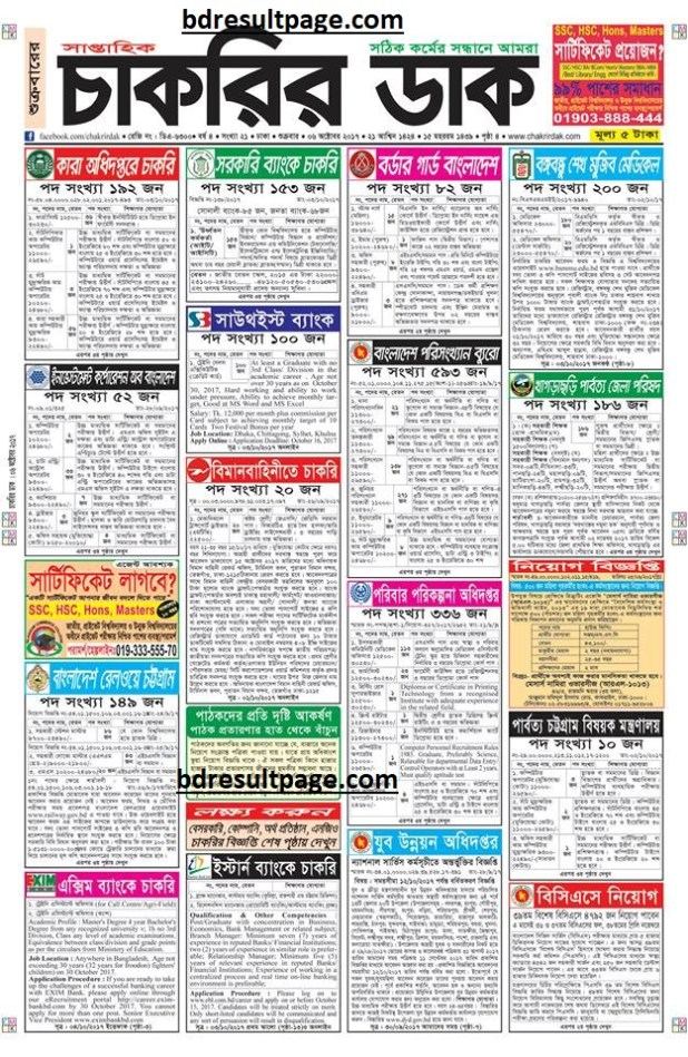 Weekly Job Newspaper 6th October 2017