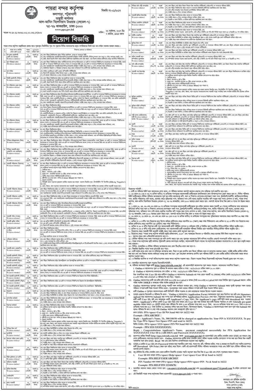 Payra Port Authority Job Circular 2017 2