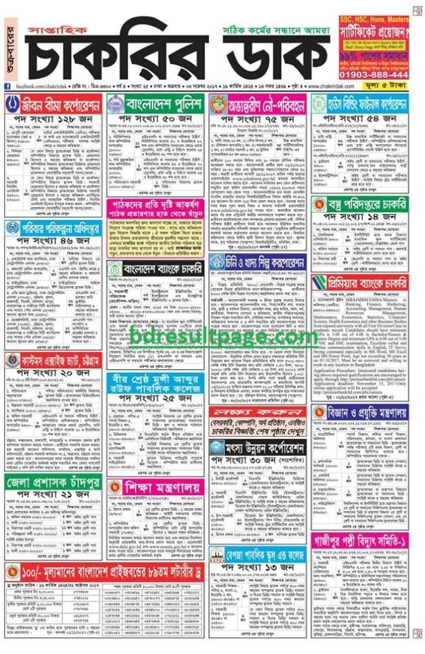 Weekly Job Newspaper 3rd November 2017