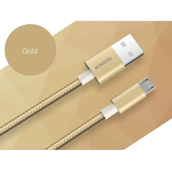 Cablu Lightning, Nylon luxury, MFI, GOLD