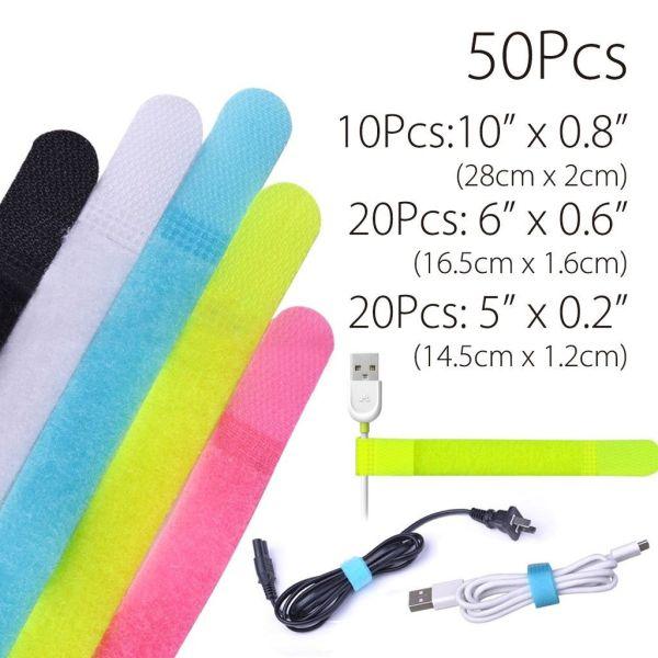 Set 50 curele cu scai Avantree Velc Multicolor