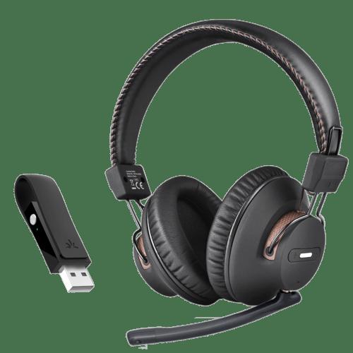 Set casti + adaptor transmitator audio Avantree DG59M