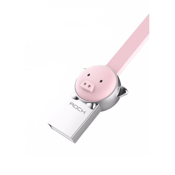 Cablu Micro USB Rockspace, Zodiac chinezesc, Porc, Roz