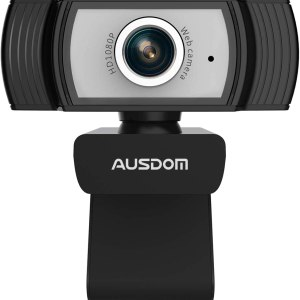Camera web Ausdom AW33, HD1080P Full HD, microfon, Negru