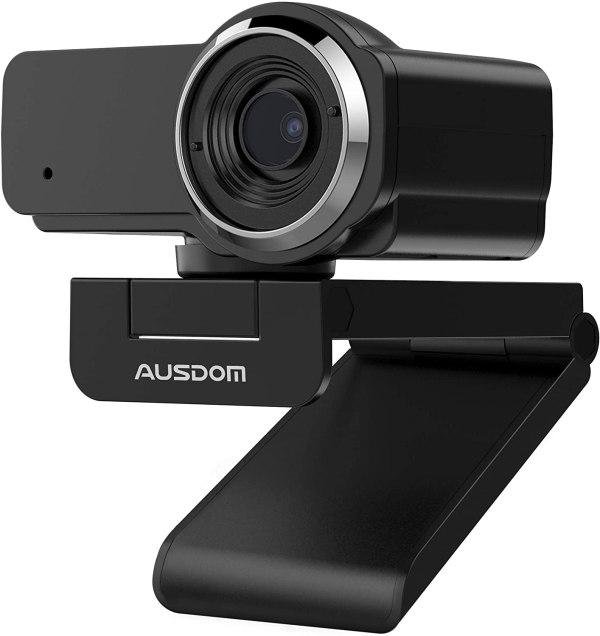 Camera web Ausdom AW635, microfon, Negru
