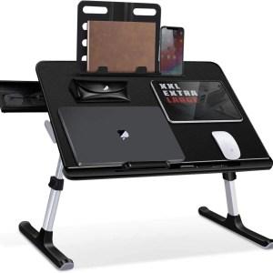 Masuta laptop MyTable TB600TL 60x45cm, negru