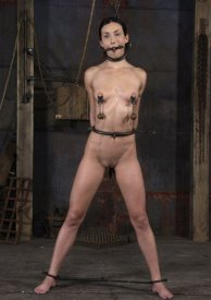 Beautiful Slave Suspended and Humiliated in Dungeon