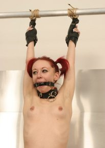 Hot Redhead Gets Spread, Penetrated and Punished