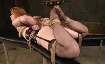 Madison Young Restrained and Disciplined in Dungeon