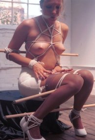 Vintage Amateur Model Bound and Gagged in Garters