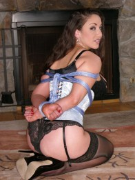 Jewell Marceau Hogtied and Gagged for Punishment at Home