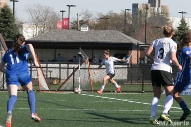 Sky Blue FC's Kelley O'Hara #19 takes the corner.