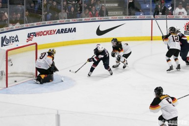 USA's Kendall Coyne #26 scores her second goal of the game.