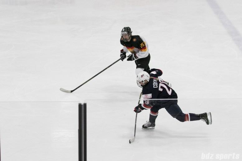 USA's Kendall Coyne #26 takes a shot