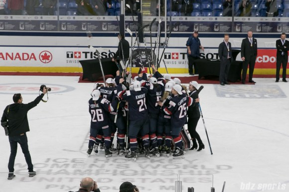 Team USA celebration.