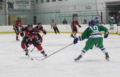 New York Riveters Janine Weber takes on Connecticut Whale Kaliya Johnson