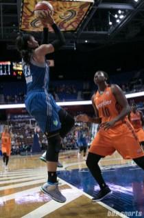 Minnesota Lynx forward Maya Moore (23) pulls up for the jumper.