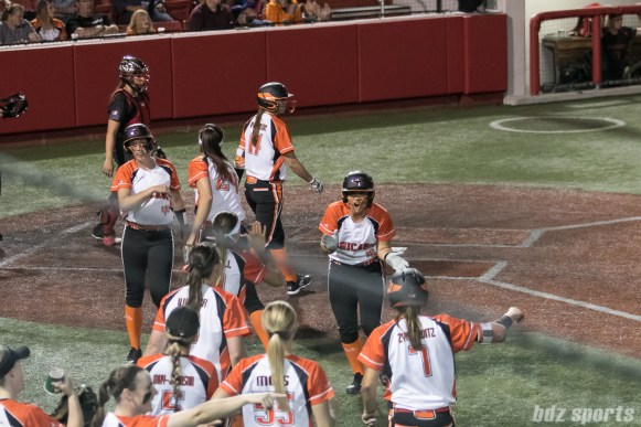 The Chicago Bandits are fired up after scoring 7 runs with 2 outs on the board. The Bandits would finish the 5th inning scoring 8 runs.
