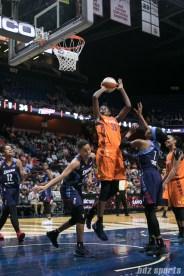 Connecticut Sun center Jonquel Jones (35) looks to put the ball in the basket.