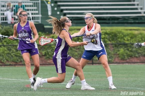 Baltimore Ride Amanda Johnson (17) unleashes a shot on goal.
