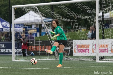 Boston Breakers goalkeeper Sammy Jo Prudhomme (15) takes a goal kick.