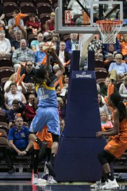 Chicago Sky forward Jessica Breland (51) looks to put the ball in for 2 points.