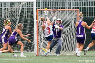 Long Island Sound attacker Christina Esposito (3) takes a shot on goal.